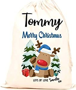 christmas gifts Personalised santa Sack