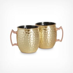 Gold Moscow Mule Glasses