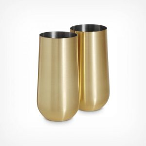 Brushed Gold Highball Glasses