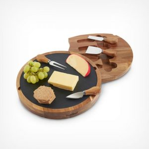 Round Cheese Board & Knife Set