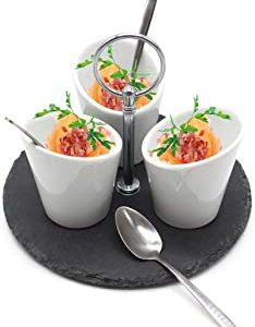 http://www.catering-online.co.uk/recommends/vangogh-rustic-slate-snack-cups-nibbles-dips-tray-white-ceramic-appetizer-tapas-serving-dishes-set-platter/