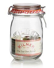 Kilner Preserve 1L Clip Top Round Jar