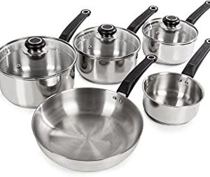 Morphy Richards Equip 5-Piece Pan Set - Stainless Steel