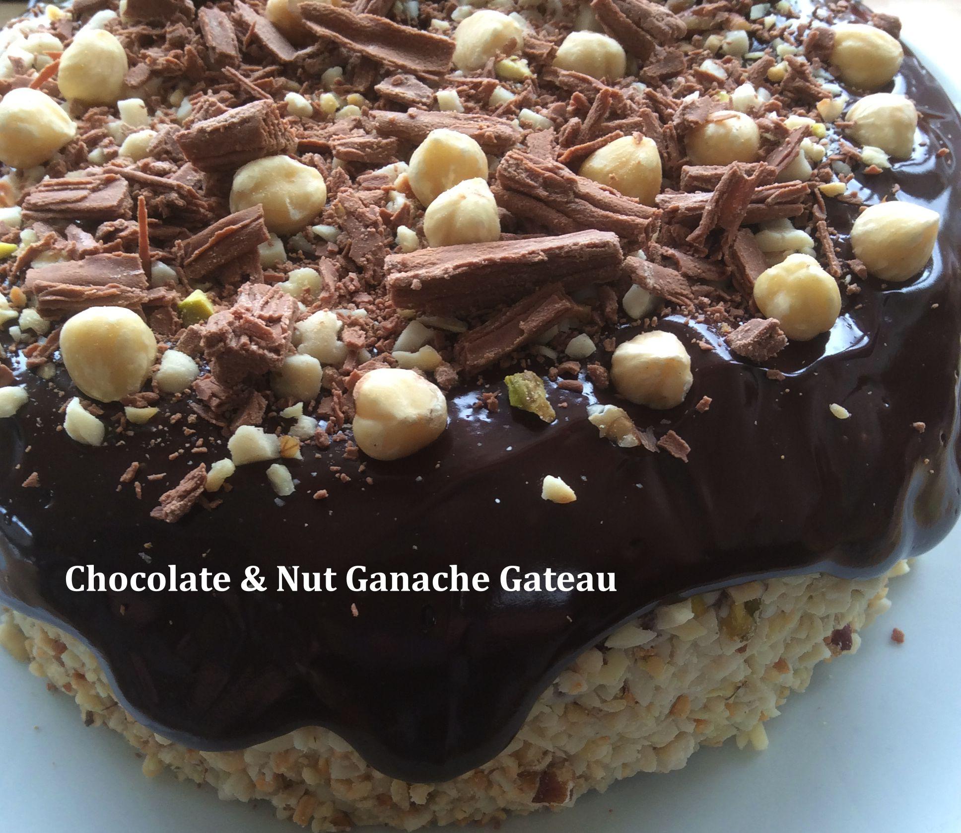 Chocolate & Nut Ganache Gateau