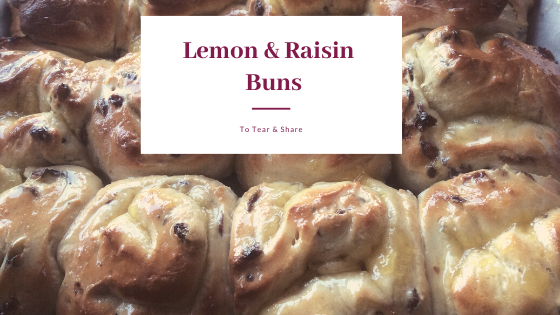 Lemon & Raisin Buns blog banner