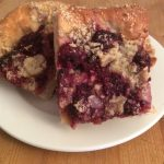 Slice of Blackberry & Almond Kuchen