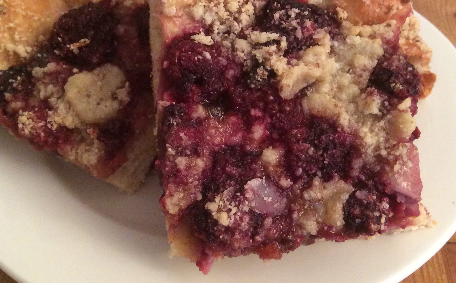 Slice of Blackberry & Almond Kuchen